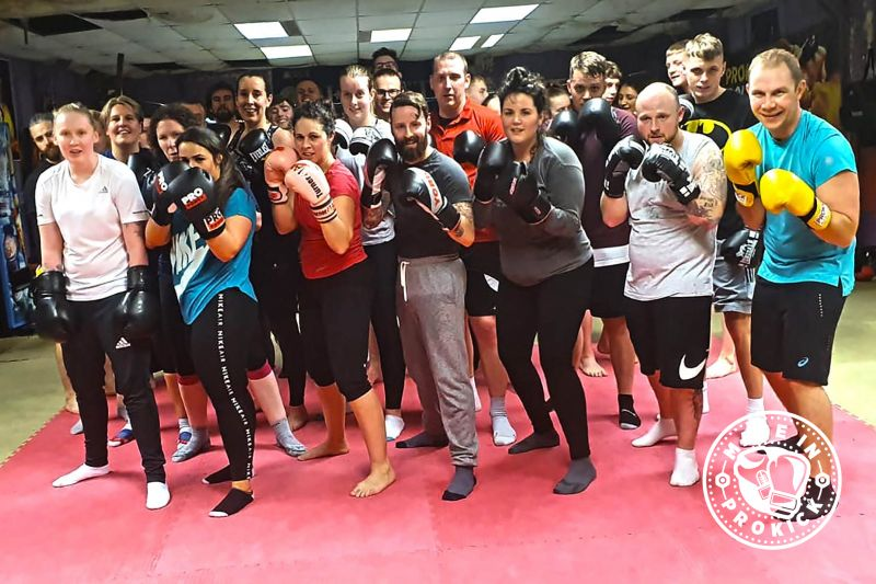 A 6-week ProKick Beginners Course concluded with a tough pads class under the direction of #JohnnySwiftSmith on Monday 10th Feb 2020