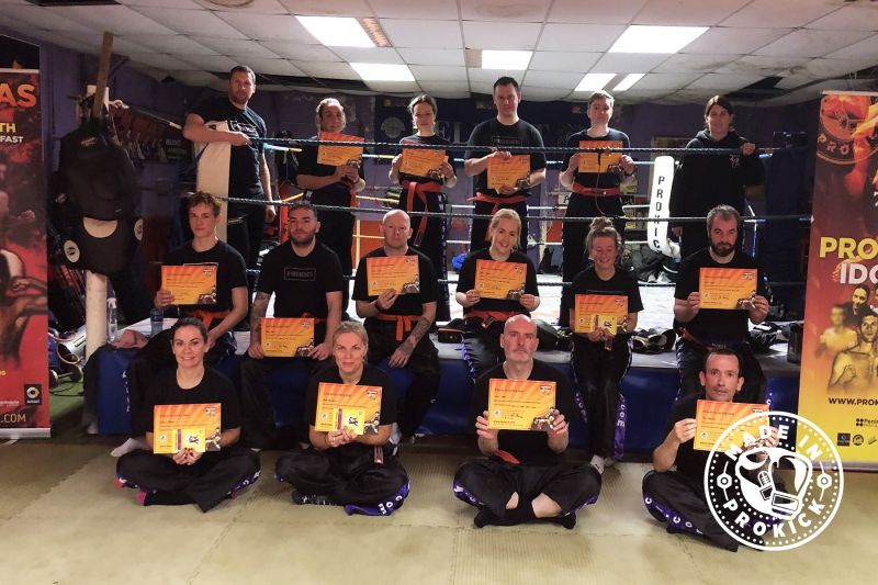 New Green Belts 4th Oct 2020 - Today's grading (4th Oct) was for ProKick adults attempting, yellow & orange along with one of the largest group moving from orange to senior Green belt level.