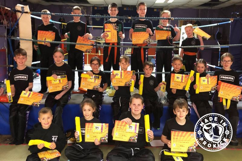 It was the happy smiling faces of relief when the ProKick KIDS finished their grading, moving the talented kickers up the kickboxing ladder of excellence at the ProKick Gym.