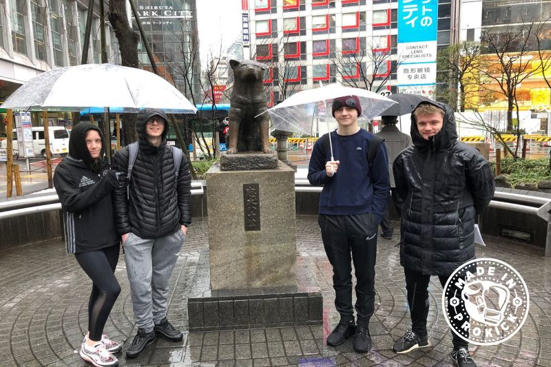 Famous Japanese Dog - The Hachiko statue in Shibuya is a homage to the faithful Akita dog who waited at Shibuya Station every day for his master, even after his death.