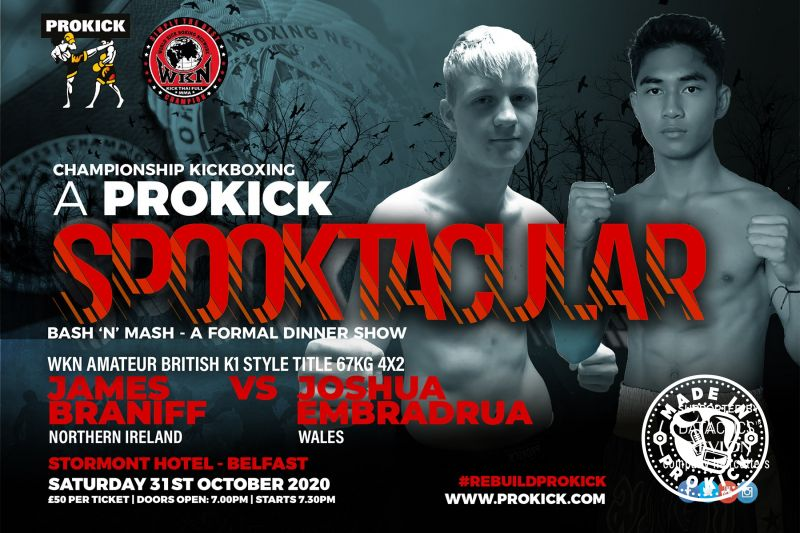 Braniff (NI) Vs Embradrus (Wales) are preparing for fireworks this Halloween as these two battle it out to be declared WKN Amateur British K1 Champion at 67kg.