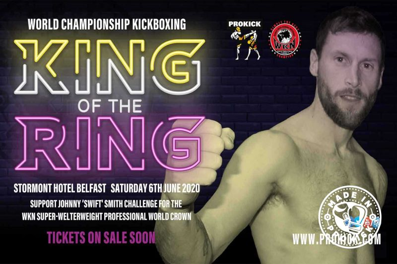Support Johnny 'Swift' Smith...Johnny 'Swift' Smith will challenge for the WKN Super-Welterweight World Kickboxing title on June 6th at the Stormont Hotel in Belfast.