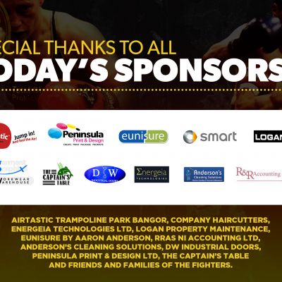 A big thanks to all the event Sponsors for the Stormont event