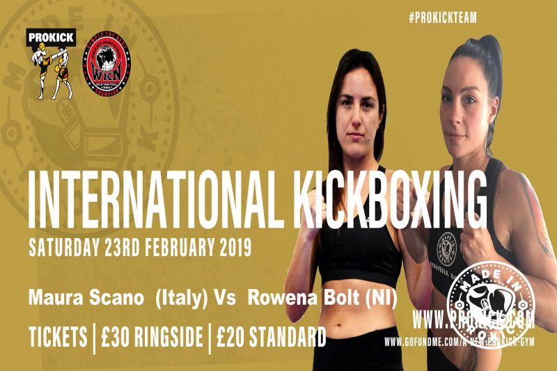 Rowena 'lightning' Bolt is back in high-kicking action when she faces Maura Scano of Sardinia.