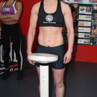 Cathy McAleer made the weight by 100 Grams