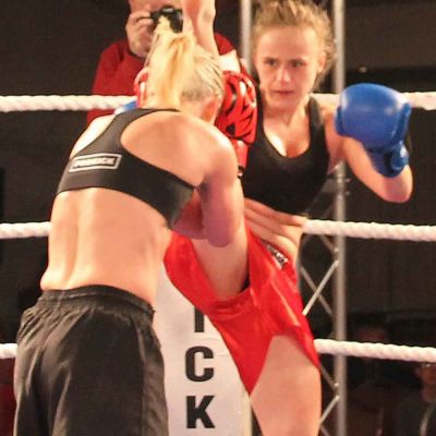 Action from the Stormont Hotel Feb 17th - Ciaskowska Fires An Exe Kick