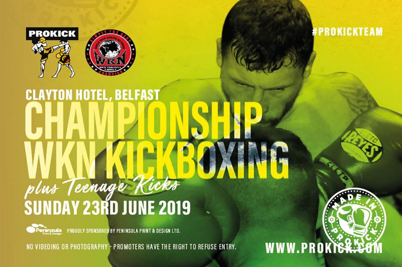 Order you tickets for the #ProKick International & Championship event at the #ClaytonHotelBelfast on Sunday the 23rd June 2019. The event will see #billyMurray & his #ProKickTeam stage a Sunday afternoon Fight-Show not to be missed.