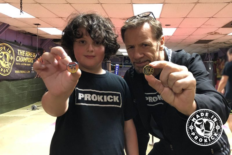 Nine year-old Daniel Pickering has came up with a way to help #RebuildProKick the 9 year-old has designed two ProKick lapel badges