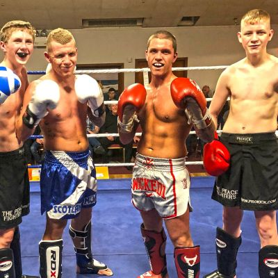 ProKickers James Braniff and Jay Snoddon faced Shane Weir and Mikey Sheilds of Scotland in an all action highly entertaining, yet a competitive exhibition of kickboxing.