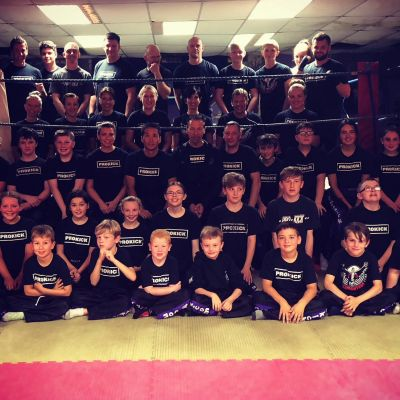 Hiro with ProKick Kids and Adults classes during his time here in Belfast