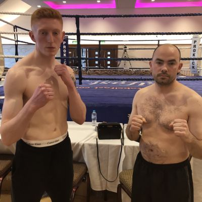 Weigh-ins -  Cameron Scott Belfast ProKick gym faced Konrad Baranski from Dublin's FightClub