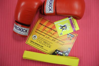 The next ProKick ADULTS Yellow & Orange Belt Grading - tomorrow Sunday 9th Feb - Doors open & Registration 10:45am, Grading starts 11.am.