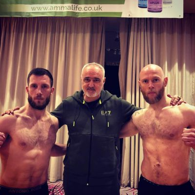 Pictured the big BOSS WKN president Mr Stephane Cabrera headed the International Full-Contact kickboxing 3x2 the match was made at  71kg with Matthew Kerr 71.1kg (Belfast, NI) Vs Thomas Poullain weigh'd in at 69kg (Switzerland)