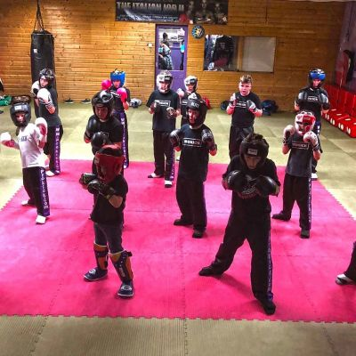 Kids Friday Class 4th May 2018 - Kids Friday sparring class were the ProKick Kids enhance their skill set