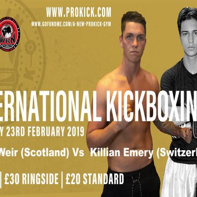 Swiss fighter Killian Emery a Northern Irish favourite brings excitement, passion and skill to the ring but he faces a tough challenge when he meets determined Scottish-man Shane Weir of Aberdeen.