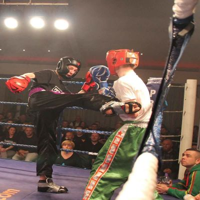 Madden Kicks In A Round Kick To Slattery on the big night in Belfast