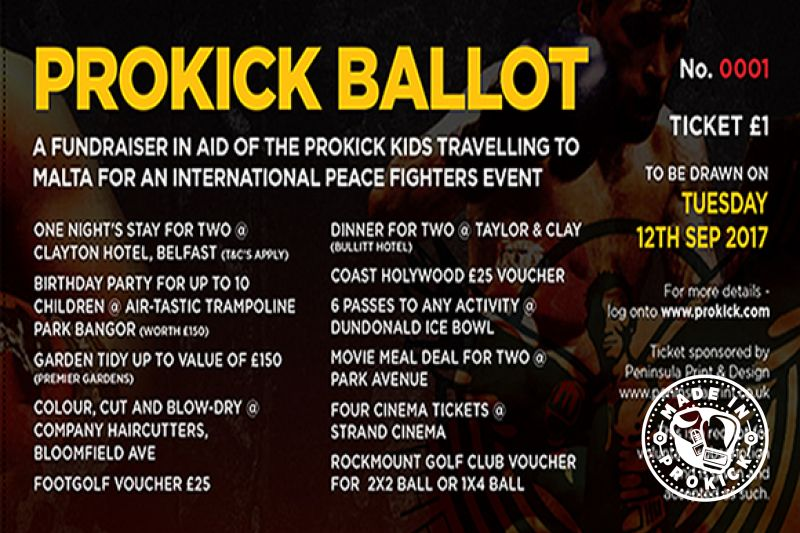 ProKick Ballots in aid of the ProKick Kids in Malta