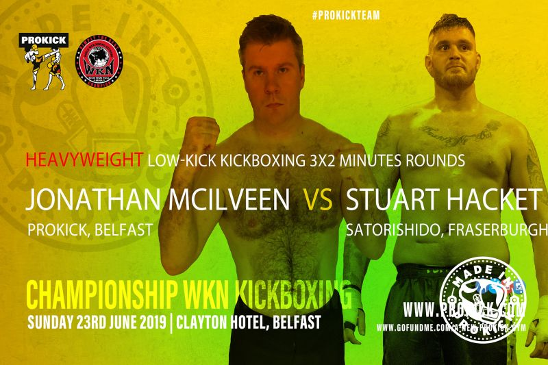 Heavyweight kickboxing back in Belfast on June 23rd when Jonathan McIlveen (Belfast) comes Face-to-Face with Stuart Hacket (Scotland) at the Clayton Hotel Belfast