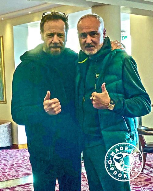Billy Murray & Stephane Cabrera at the Stormont Hotel. Welcome back #WKN top man Mr Cabrera to #Belfast for Saturday's #international #kickboxing event at the #Stormonthotel