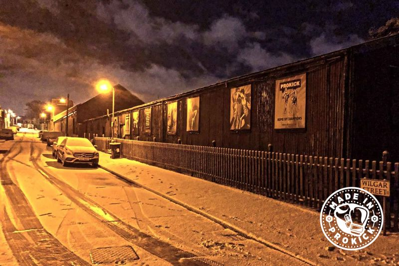 ProKick Gym Belfast on a snowy cold night in Jan 16th 2018