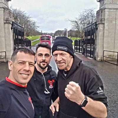 Rafa, Tony and Billy have a training session at Stormont