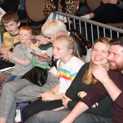 Ringside Fans at the Stormont hotel in Belfast on the 23rd FEB 2019