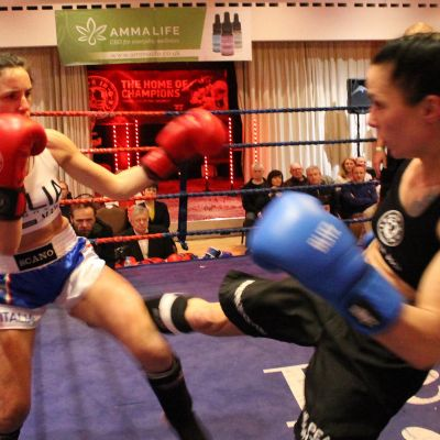 Rowena Bolt took on the Italian Maura Scano in a low-kick style match. This was a cagey affair as the two ladies looked to counter, however Bolt lived up to her 'Lightning Bolt' name and picked up the pace to gain the victory.