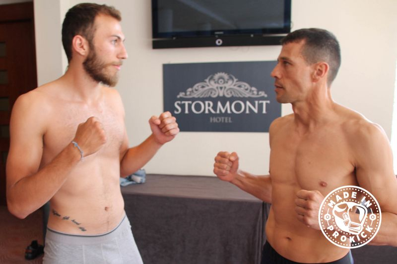 Rafa Del-Toro (Gran Canaria) weigh'd-in at 70kg and Stefanos Stamatiou (Cyprus) just came under the limit at 69.6kg