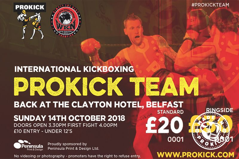#SwiftSmith Vs Filippou in Belfast. International Kickboxing is set to come back to the city centre of Belfast on Sunday 14th October 2018
