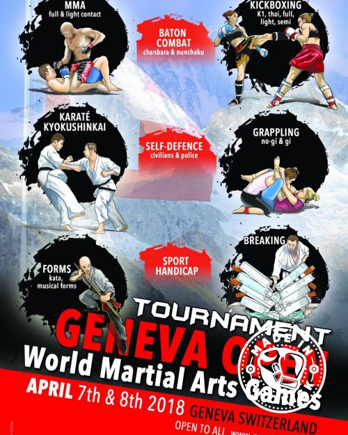 Carl Emery promotes the Internationally recognised World Martial Arts Games 7th-8th April 2018 in Geneva, Switzerland.