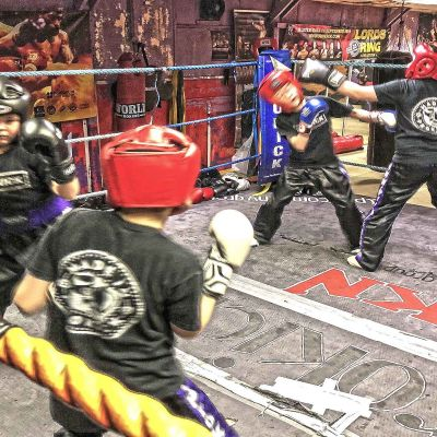 Ring Action with the ProKick Kids at the new Sparring class on 12th Jan 2018