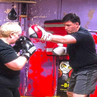 no difference at ProKick male & female sparring Action Last Week No.6 at the ProKick Gym