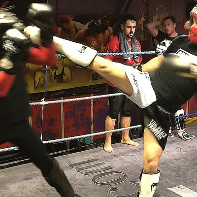 Saturday afternoon 27th JAN sparring between Rafa Del Toro & Alex Coicio