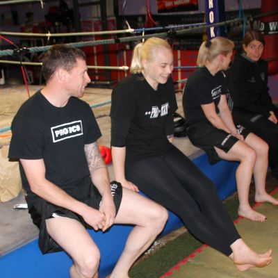 Top proKick Brass help out at the Sparring
