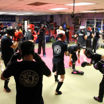 Warm-up as beginners get ready to Sparring