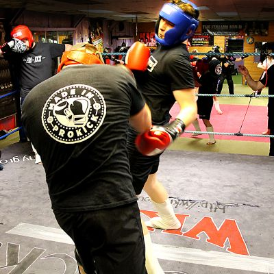 Aaron Sommerville in Sparring action