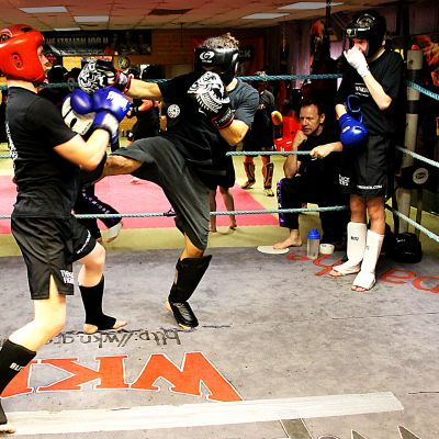 Cian Donaldson in sparring action