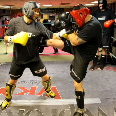 sparring training at the ProKick Gym