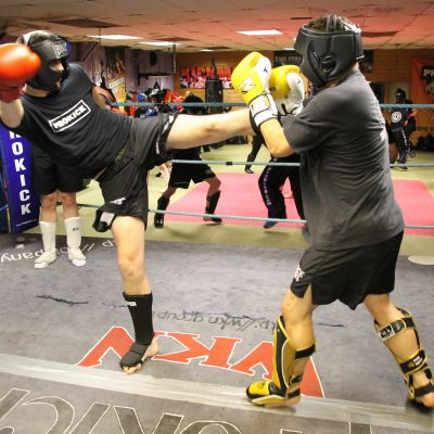 kicks and punches at the ProKick Gym