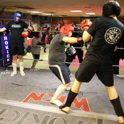 ProKick Mark Cairnduff in Sparring action