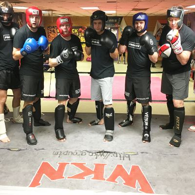Beginners Sparring Group who all had a session in the ring