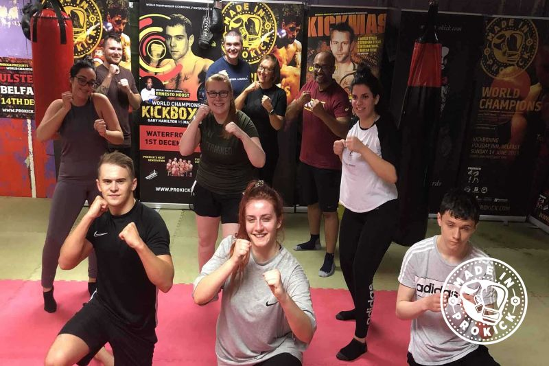 Helping to Kick our way back to the old normal - This was the Second new squad of wannabe kickboxers to come through the doors at the ProKick from when Covid-19 hit and closed down NI. This new ProKick 6-week course started on the 27th July 2020