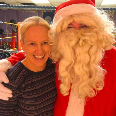 The women of steel Cathy McAllen was melted when she met Santa