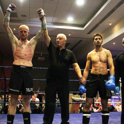 IceMan Darren McMullan takes the bout of the judges score cards Vs Nikos Kollias (Cyprus)