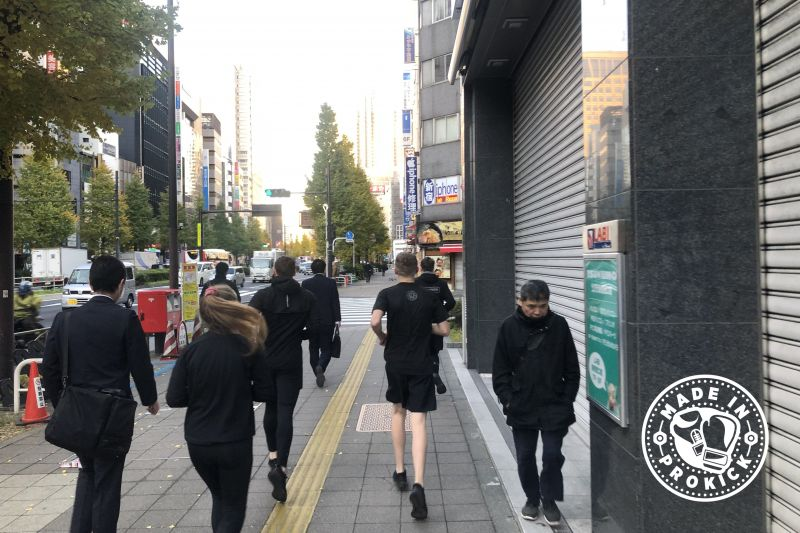 Running the streets of tokyo