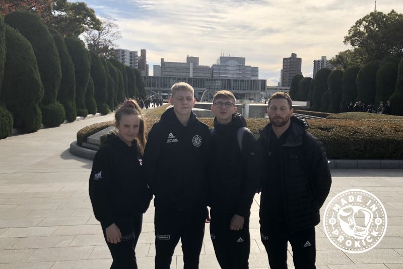 The team arrived at Hiroshima museum