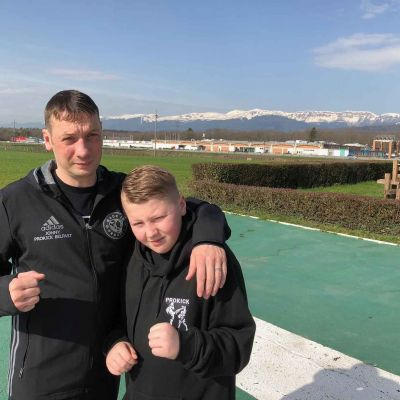 Father and Son - the Wightman's in Switzerland - young Jack never been on a plane before and now he will competes in Switzerland. Well done guys!