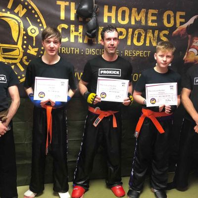 New Green Belts at the ProKick Gym DEC 17th 2017