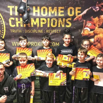 Kids in Combat as ProKick Kids Belt-up on Sunday 17th DEC 2017