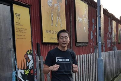 Hero Mochizuki was back at ProKick Gym in Wilgar Street in Belfast